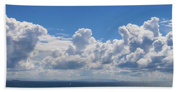 Clouds Over Catalina Island - Panorama Beach Sheet
