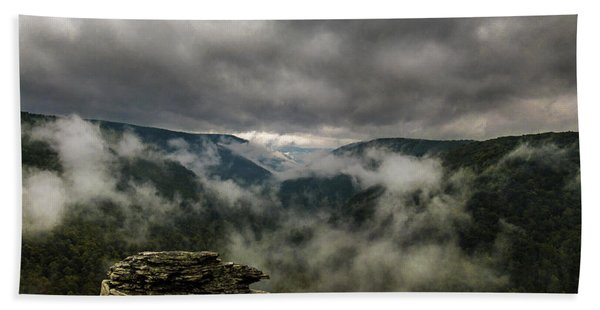 Clouds Rising At Lindy Point Beach Towel