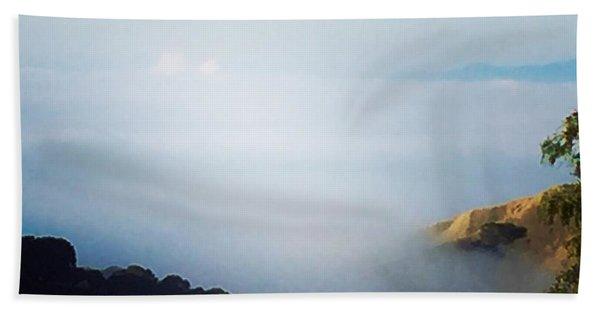 Coastal Fog Beach Towel