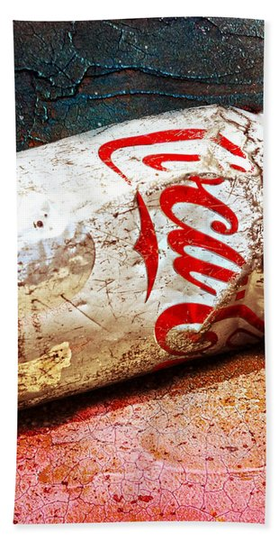 Beach Towel featuring the photograph Coca Cola On The Rocks By Mike-hope by Michael Hope