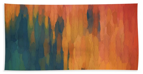 Color Abstraction Xlix Beach Towel