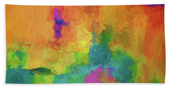 Color Abstraction Xxxiv Beach Towel