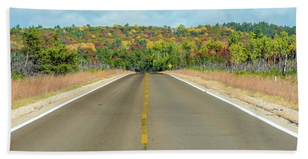 Color At Roads End Beach Towel