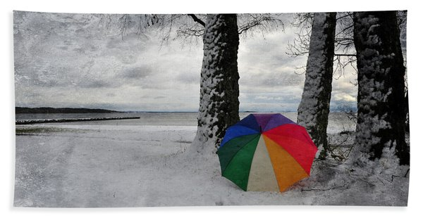 Color To The Melancholy Beach Towel