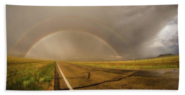 Colorado Double Rainbow Beach Sheet