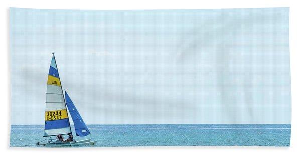 Colorful Catamaran 3 Delray Beach Florida Beach Towel