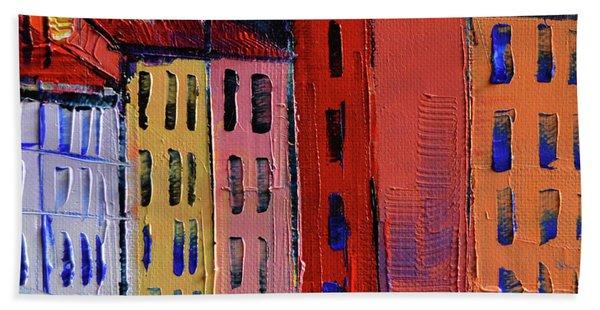 Colorful Facades Beach Towel