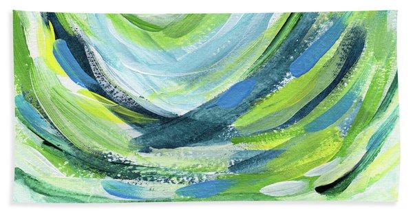 Colorful Uprising 7- Art By Linda Woods Beach Towel