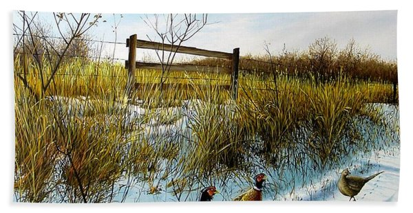 Colors Of Winter - Pheasants Beach Towel