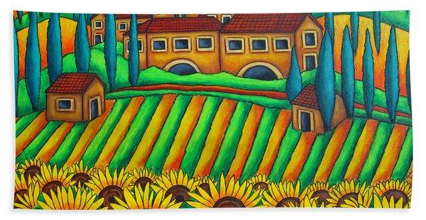 Colours Of Tuscany Beach Towel