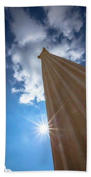 Column To Sky Beach Towel