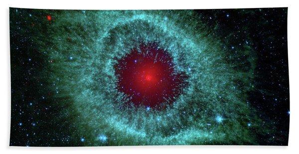 Comets Kick Up Dust In Helix Nebula  Beach Towel