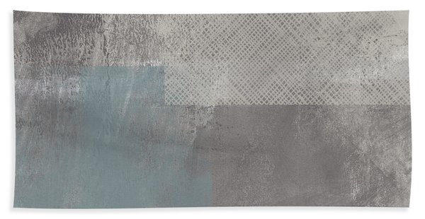 Concrete 3- Contemporary Abstract Art By Linda Woods Beach Towel