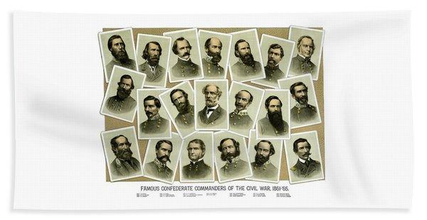 Confederate Commanders Of The Civil War Beach Towel