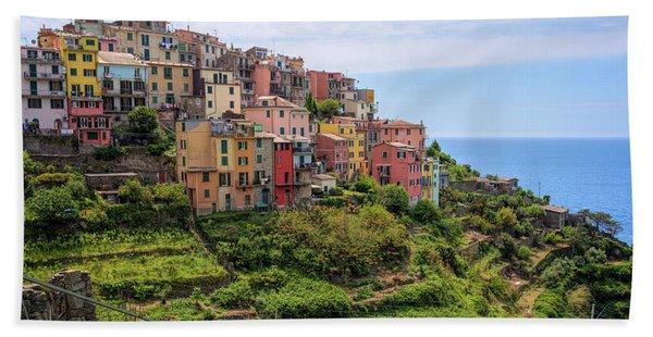Corniglia Cinque Terre Italy Beach Towel