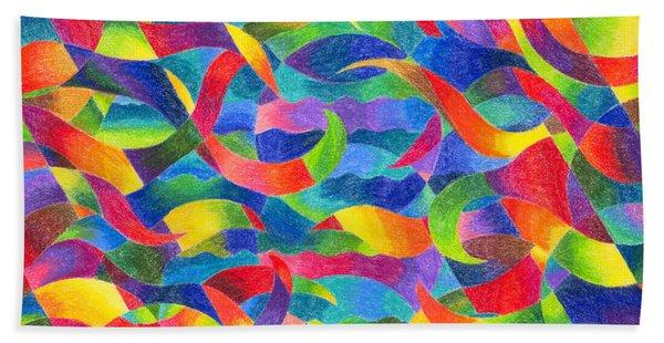 Cosmic Ribbons Beach Towel