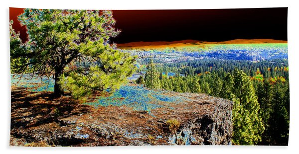 Cosmic Spokane Rimrock Beach Towel
