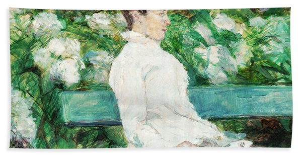 Countess Adele Of Toulouse-lautrec In The Garden Of Malrome Beach Towel