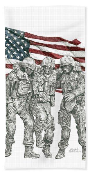 Courage In Brotherhood Beach Towel