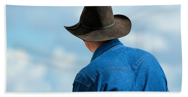 Cowboy Back Beach Towel