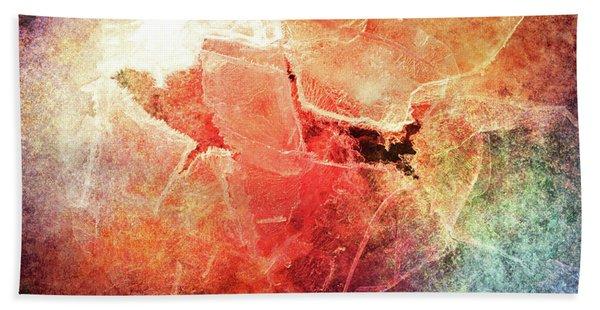 Cracks Of Colors Beach Towel