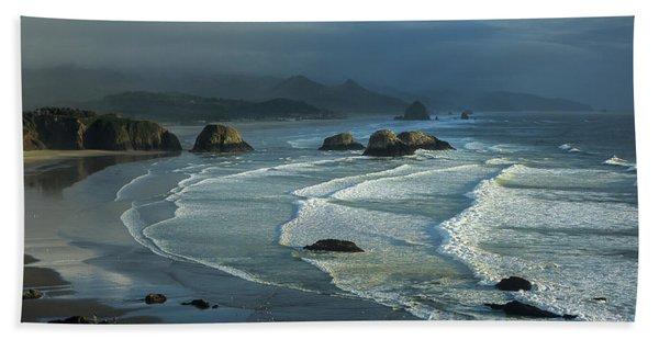 Crescent Beach And Surf Beach Towel