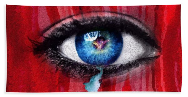 Beach Towel featuring the painting Cry Me A River by Mark Taylor