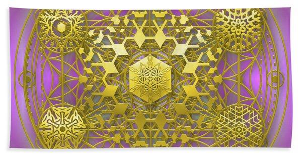 Beach Towel featuring the digital art Crystal 1 by Robert Thalmeier