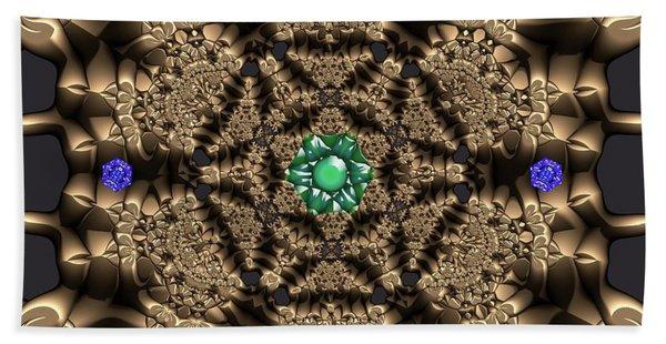 Beach Towel featuring the digital art Crystal 22 by Robert Thalmeier