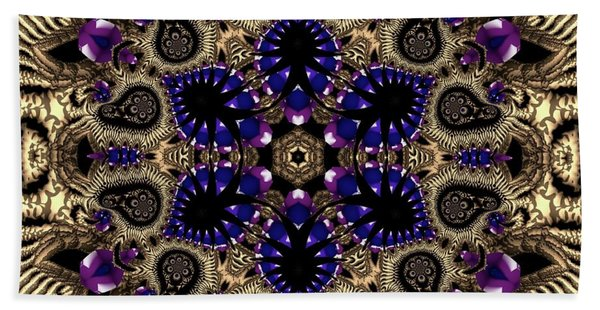 Beach Towel featuring the digital art Crystal 61345 by Robert Thalmeier