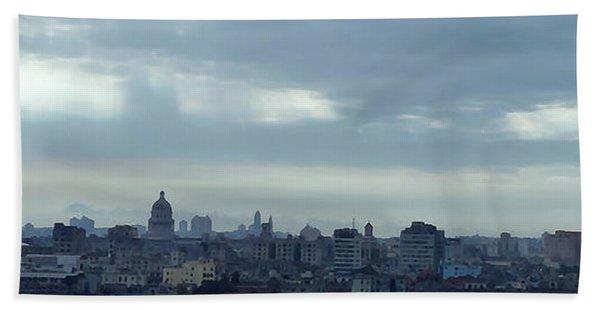 Cuba City And Skyline Art Beach Towel