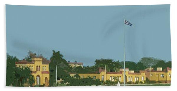 Cuban Estate Print Beach Towel