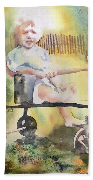 Dad Circa 1934 Beach Towel