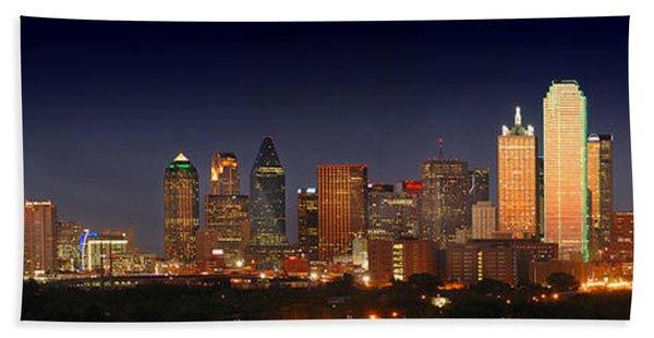 Dallas Skyline At Dusk  Beach Towel