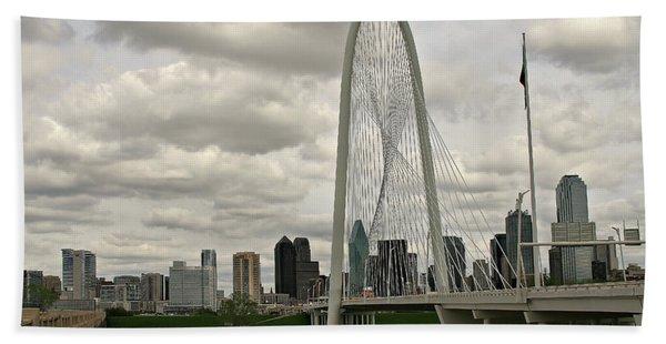 Dallas Suspension Bridge Beach Towel