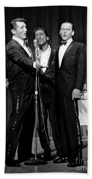 Dean Martin, Sammy Davis Jr. And Frank Sinatra. Beach Towel