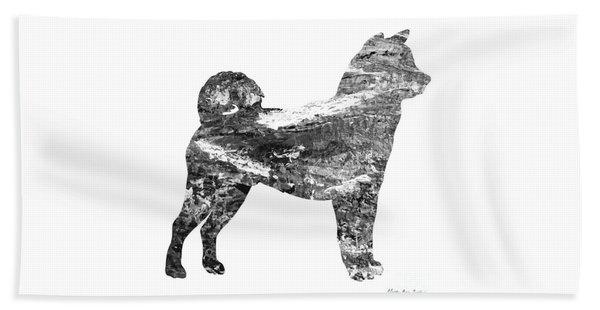 Decorative Husky Abstract O1015j Beach Towel
