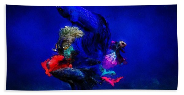 Beach Towel featuring the painting Deep Oceans by Mark Taylor