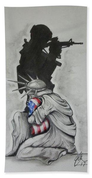 Defending Liberty Beach Towel
