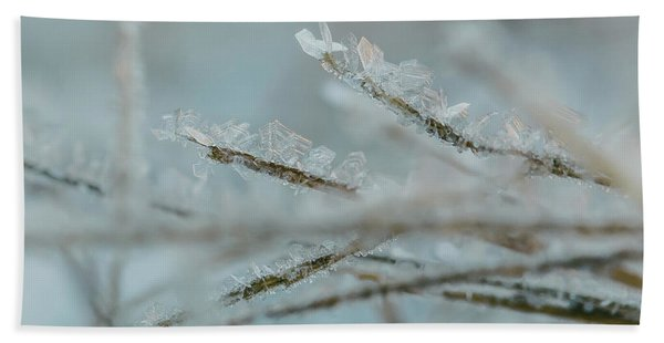 Delicate Morning Frost  Beach Towel