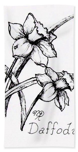 Delightful Daffodils Beach Towel