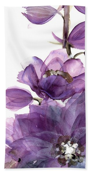 Delphinium Beach Towel