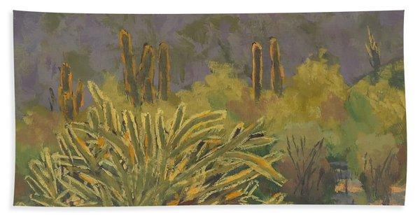 Desert Afternoon - Art By Bill Tomsa Beach Towel