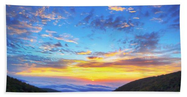 Digital Liquid - Good Morning Virginia Beach Towel
