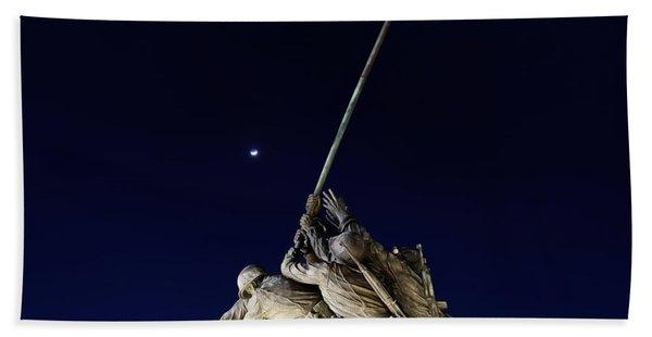 Digital Liquid - Iwo Jima Memorial At Dusk Beach Towel
