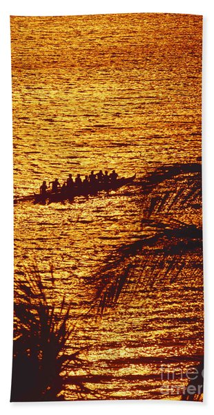 Distant View Of Outrigger Beach Towel