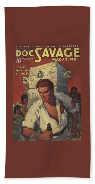 Doc Savage The Man Of Bronze Beach Towel