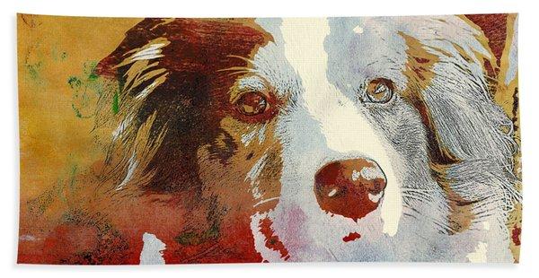 Dog Portrait Beach Towel