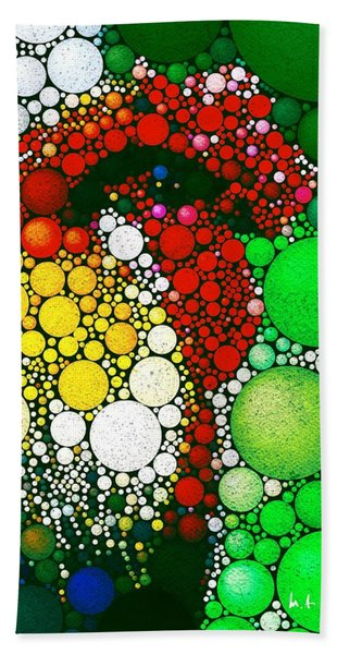 Beach Towel featuring the digital art Dotty Doodle Doo by Mark Taylor
