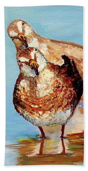 Dowitcher Birds Beach Towel